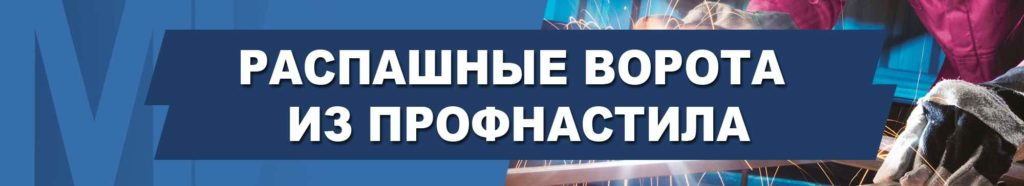 Распашные ворота из профнастила в Харькове