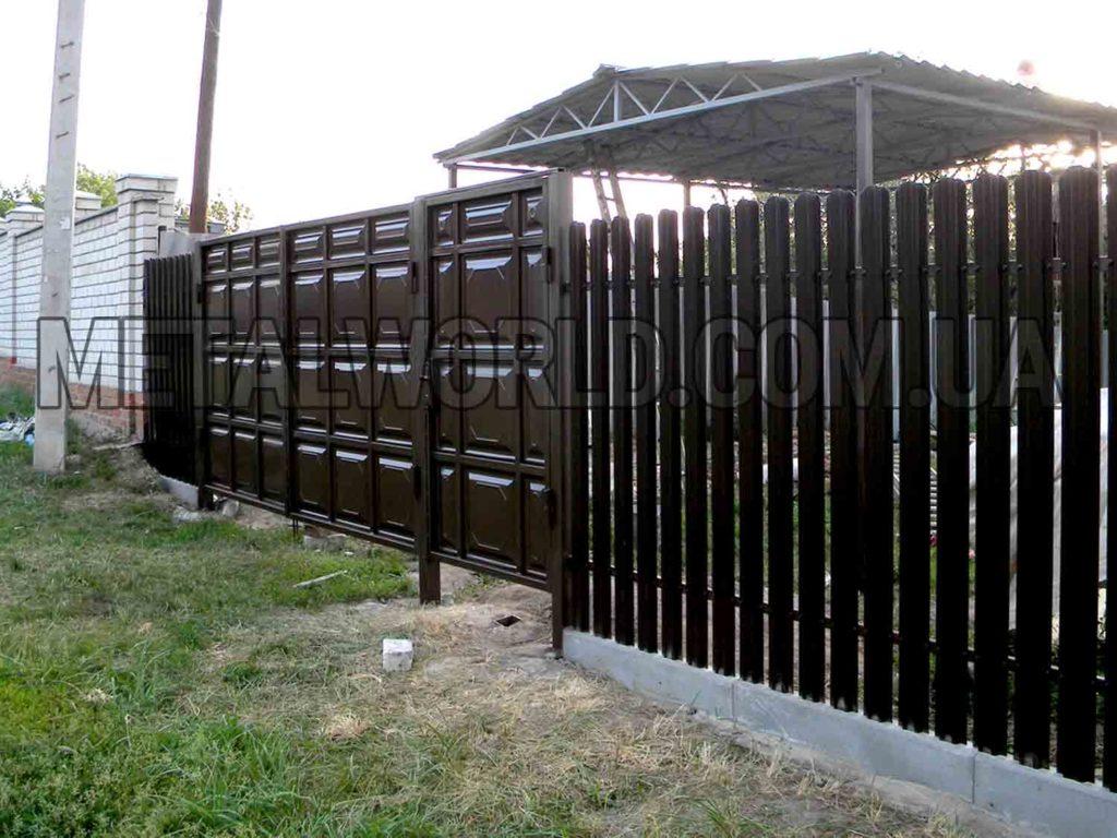 филенчатые ворота распашные