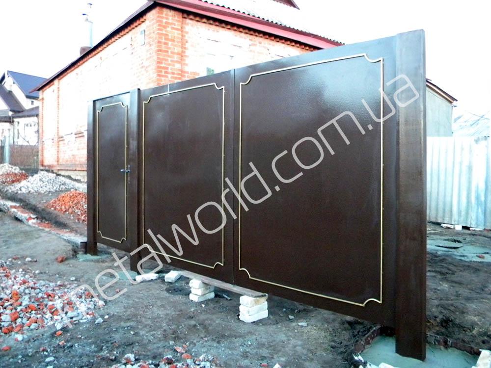 металлические ворота фото