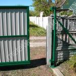Фото ворот из профнастила