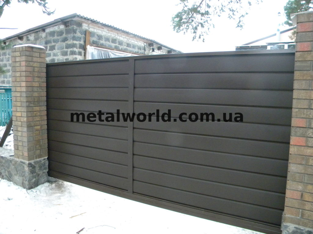 Ворота из блок-хауса в Харькове