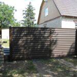Ворота из металлического сайдинга